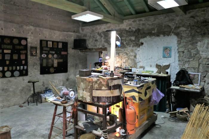 The artist's workshop